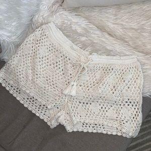 Roxy Crochet Swim Short Coverup